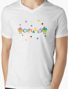 I love cupcakes banner Mens V-Neck T-Shirt