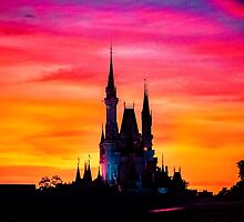 Cinderella Castle in Colors by jjacobs2286