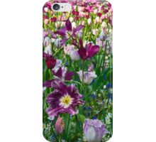 Shades of purple Tulips iPhone Case/Skin