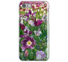 Shades of purple Tulips iPhone Case/Skin