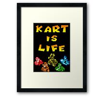 Kart is Life Framed Print