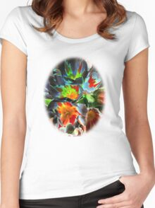 Tulips3 Women's Fitted Scoop T-Shirt