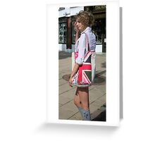 Love that flag... Pretty girl too... Greeting Card