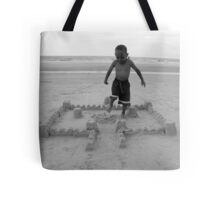 Sand Castle Destruction Tote Bag