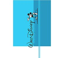WALT DISNEY ANIMATION BLUE Photographic Print