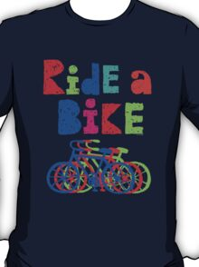 Ride a Bike sketchy - black T  T-Shirt