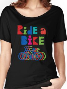Ride a Bike sketchy - black T  Women's Relaxed Fit T-Shirt