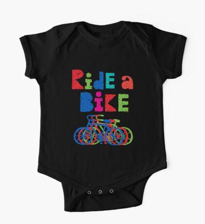 Ride a Bike sketchy - black T  Kids Clothes