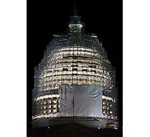 Capitol Construction Photographic Print