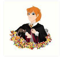 No-lined Ron Weasley Art Print
