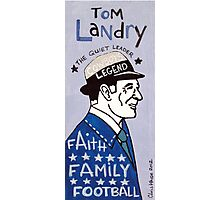 Tom Landry Dallas Cowboys Football Folk Art Photographic Print