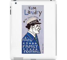 Tom Landry Dallas Cowboys Football Folk Art iPad Case/Skin