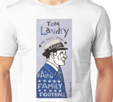Tom Landry Dallas Cowboys Football Folk Art Unisex T-Shirt
