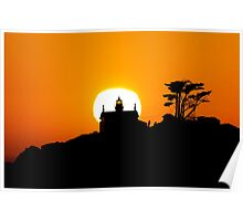 Battery Point Lighthouse at Sunset.  Poster