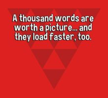 A thousand words are worth a picture... and they load faster' too. by margdbrown