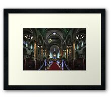Manila Cathedral Nave Framed Print