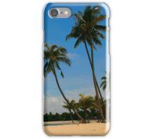 A Palm Covered Beach iPhone Case/Skin