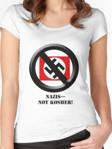 Nazis -- Not Kosher! Women's Fitted Scoop T-Shirt