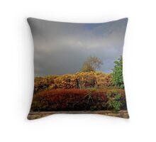 Autumnal Hedgerow Throw Pillow