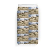 Grass tails among the granite Duvet Cover