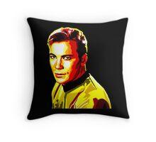 Retro James T Kirk Throw Pillow