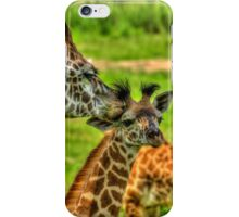 Giraffe Kiss iPhone Case/Skin
