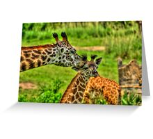 Giraffe Kiss Greeting Card