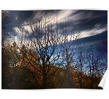 Hillside After Sunset Poster
