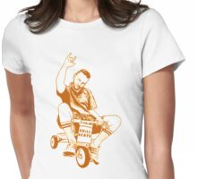 Man on a Tricycle Womens Fitted T-Shirt
