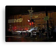 rail crossing Canvas Print