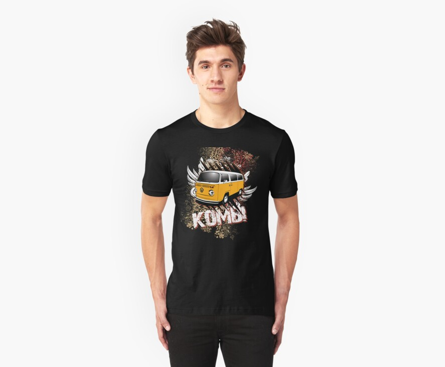 Volkswagen Tee Shirt - Two Tone Kombi by KombiNation