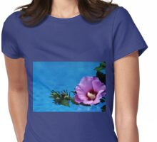 Violet Satin Womens Fitted T-Shirt