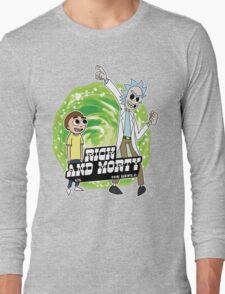 Rick and Morty vs The World Long Sleeve T-Shirt