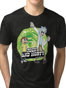 Rick and Morty vs The World Tri-blend T-Shirt