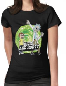 Rick and Morty vs The World Womens Fitted T-Shirt