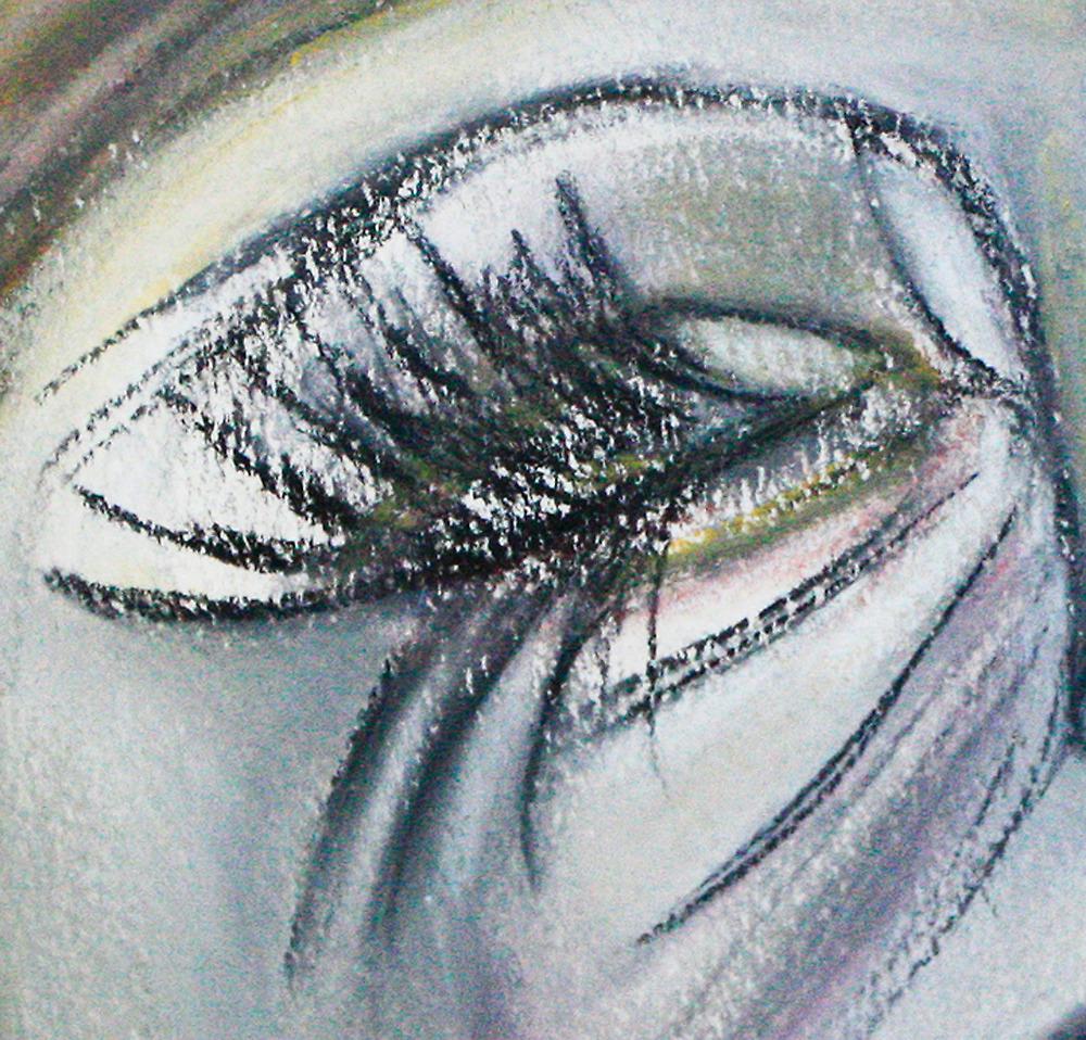 Sad Beauty...Crop by Christina Rodriguez