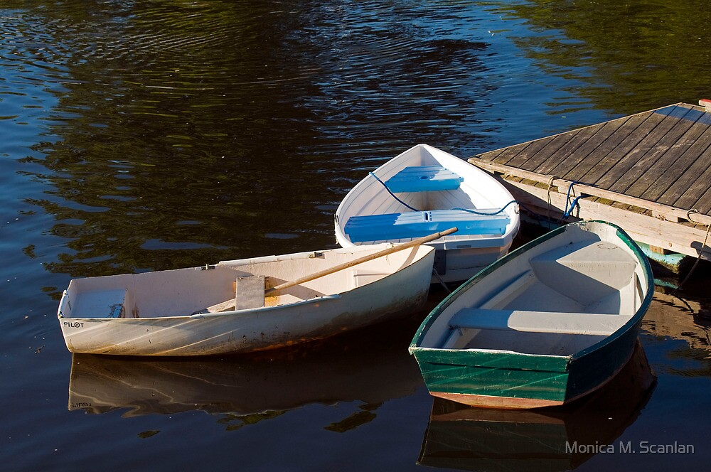 Three Row Boats by Monica M. Scanlan