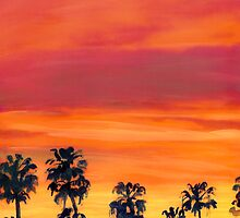 Red Sunset In San Diego by RDRiccoboni