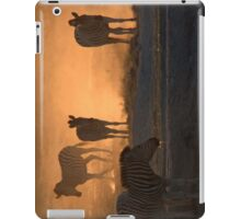 Backlit Zebras iPad Case/Skin