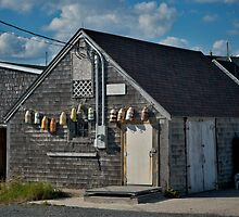 Peggy's Cove ~ Fishing buildings by Roxane Bay