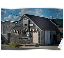 Peggy's Cove ~ Fishing buildings Poster