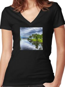 On the Lake Women's Fitted V-Neck T-Shirt