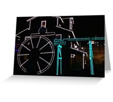 Splashing Lights Greeting Card