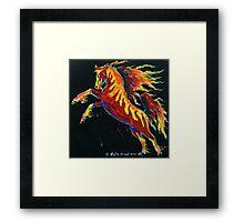 Firestorm Pony Framed Print