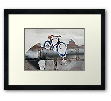 Paper Bicycle Framed Print