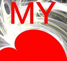 U R my Heart  Sticker