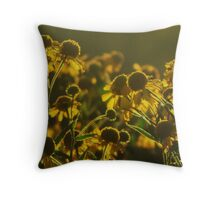 Sneezeweed and the Bee Throw Pillow