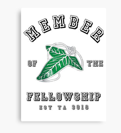 Fellowship (White Tee) Canvas Print