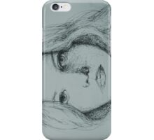 another scribble girl  iPhone Case/Skin
