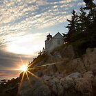 Bass Harbor Head Lighthouse at Sunset by Mark Van Scyoc